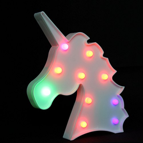 OYE HOYE Unicorn LED Lights Night Light Night Lamp Marquee Signs Table Lamp Multi Color Change for Wall Decoration Bedroom Kids Living Room Kids Gift Battery Operated