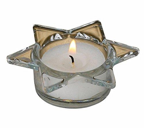 Biedermann & Sons Glass Star of David Tealight Holders (Box of 6) ()