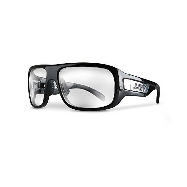 LIFT Safety EBD-10KC Safety Bold Safety Glasses (Black Frame/Clear Lens) 1