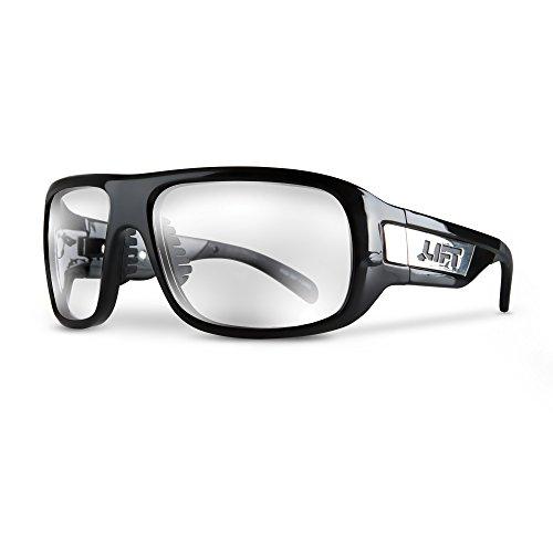LIFT Safety EBD-10KC Safety Bold Safety Glasses (Black Frame/Clear Lens)