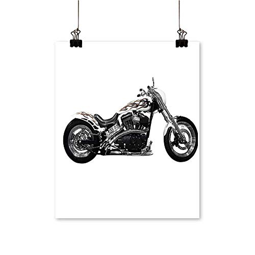 "1 Piece Wall Art Painting Power Hipster Style Stylish Risky Driving Vehicle Throttle Chopper Living Room Office Decoration,24""W x 44""L/1pc(Frameless)"