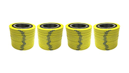 Yellow with Grey Stripe Pressure Class 600# Pack of 24 of NJ Sterling Seal 9000IR1500304GR600x24 304 Stainless Steel Spiral Wound Gasket with Inner Ring and Flexible Graphite Filler for 1.5 Pipe Supplied by Sur-Seal Inc