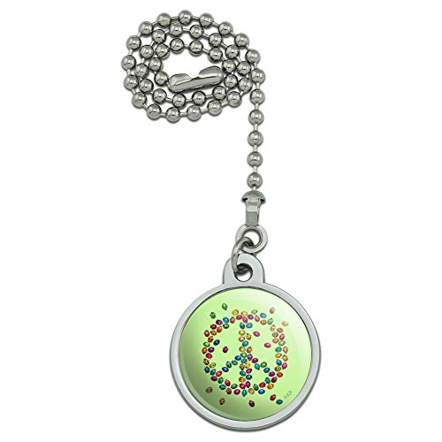 (GRAPHICS & MORE Lady Bug Rainbow Peace Sign Ceiling Fan and Light Pull Chain)
