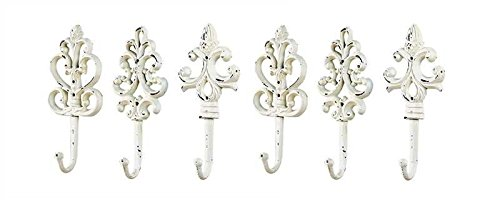 Shabby Cottage Chic Cast Iron Wall Hooks (6-Pack) by Creative Co-op