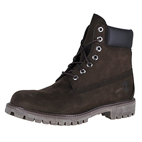 Timberland Men's 6 inch Premium Waterproof Boot, Dark Brown Nubuck, 10 M (Dark Brown Waterproof Footwear)