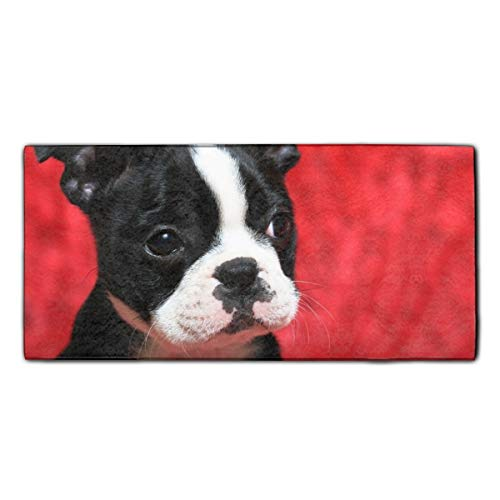 - Red Boston Terrier Printed Kitchen Towel Extra Absorbent Personalized Gift- for Bathroom/Kitchen