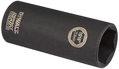 DEWALT DW22932 15/16-Inch IMPACT READY Deep Socket for 1/2-Inch Drive