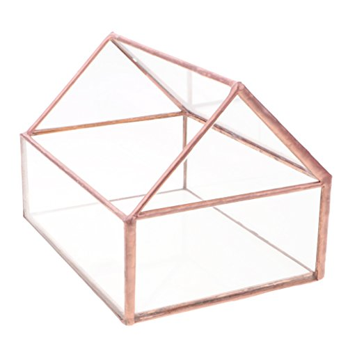 Glass Card Holder - Dovewill Glass House Terrarium Geometric Container Planter Wedding Card Box Candle Holder Table Decor