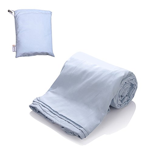 SYNCYOO Travel Camping Sheet Sleeping Bag Liner Compact Sleep Bag And Sack. (glacier silver)