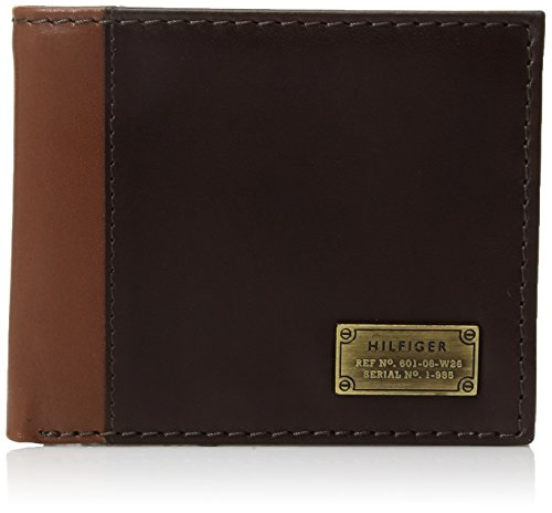 Tommy Hilfiger Men's Leather Passcase Wallet with Removable Card Holder, Melton Brown, One Size