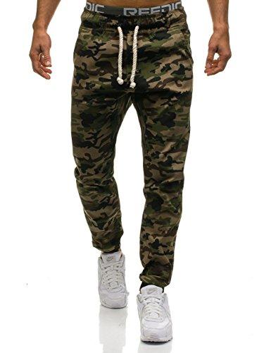 Deporte Entrenamiento Hombre 6F6 Motivo Mix BOLF Pantalones Marrón Fitness Jogger FBwgH