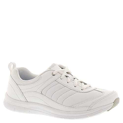 - Easy Spirit Women's South Coast Walking Shoe,White/Light Blue Leather,US 9 W