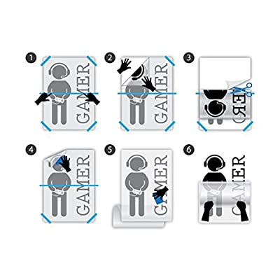 Wall Decal Gamer Gaming Joystick Vinyl Art Kids Room Large Decor z4909 (28 in X 43 in): Home & Kitchen