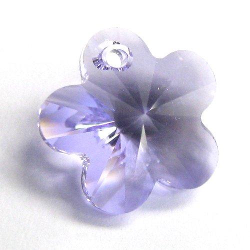 4 pcs Swarovski Crystal 6744 Flower Charm Pendant Lavender 12mm / Findings / Crystallized Element