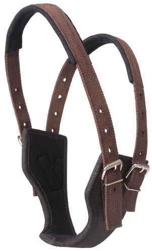 Horse Cribbing Collars - Tough 1 Synthetic Poly Crib Be Gone Comfort Collar, Brown, Medium