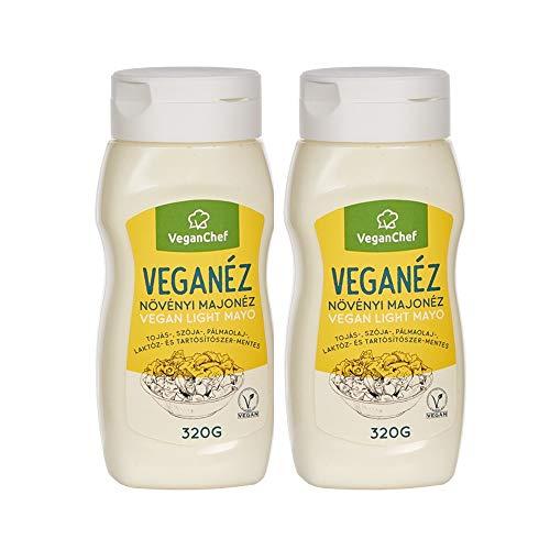 Veganese Mayonnaise- Vegan und Light Mayo, Ei-Laktose- und Glutenfrei, ohne Palmöl, ohne Konservierungsmittel und…