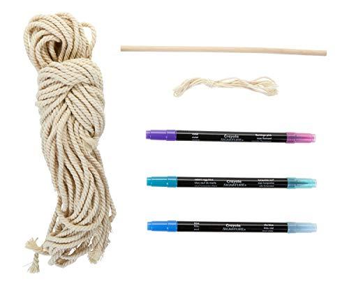 Crayola DIY Macrame Wall Hanging Kit, Ombre Macrame Supplies, Gift, Ages 14, 15, 16, 17
