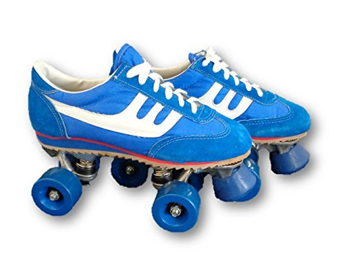 - Blue and White Sneaker Vintage Style Roller Skates Mens Size 5