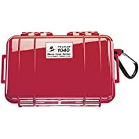 Waterproof Case | Pelican 1040 Micro Case - for iPhone, cell phone, GoPro, camera, and more (Solid Red)
