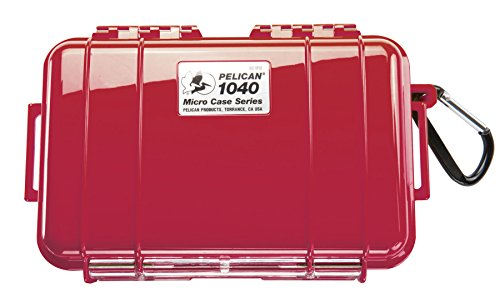 Waterproof Case | Pelican 1040 Micro Case - for iPhone, cell phone, GoPro, camera, and more (Solid Red) (Case Micro Red)