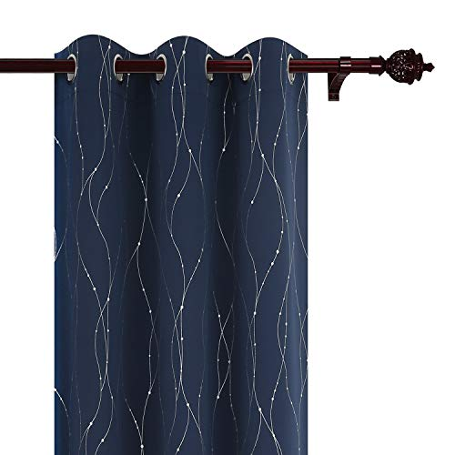 blackout curtains grommet drapes wave