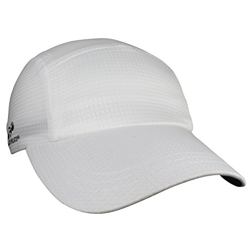 Headsweats Performance Running/Outdoor Sports Grid Race Hat, White Grid, One Size