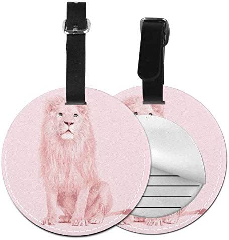Luggage Tags Albino Lion, Suitcase Luggage Tags Travel Accessories Baggage Name Tag