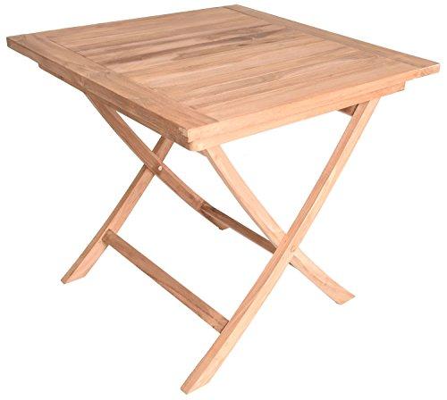 Square Teak Bench - Zenvida Square Teak Table For 2, Folding 31