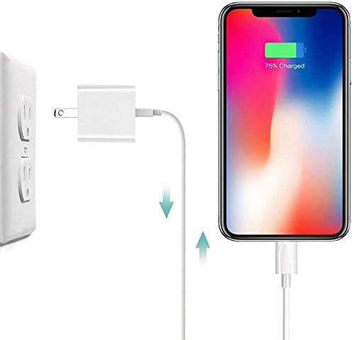 iPhone Charger, iPhone Charger MFi Certified Lightning Cable to USB Fast Charging Data Sync Transfer Cable with 2Pack USB Wall Charger Travel Plug Compatible iPhone 12/11/11 Pro/Xs/XR/X/8/8Plus More
