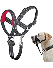 Dog Head Collar, No Pull Head Halter with Soft Padding, Durable Headcollar for Medium Large Dogs, Free Training Guide Included