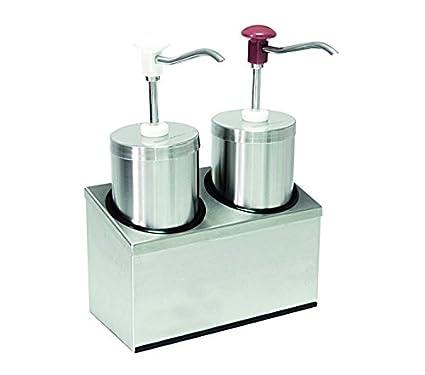Dispensador de salsa (2 compartimento) con por 2,25 litros de capacidad,