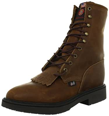 Justin Original Work Boots Men's Double Comfort Work Boot,Aged Bark,6 2E US