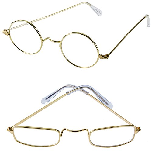 Old Man Costume Glasses - 2 Pack - Granny Glasses - Grandpa Glasses - Santa Glasses - Costume Fake Glasses by Tigerdoe]()