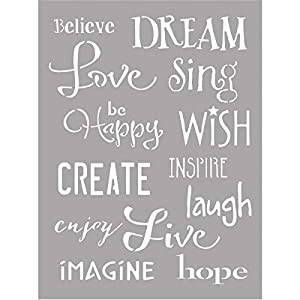 Deco Art ASMM38 Americana Decor Stencil, Inspiration, Gray, 6