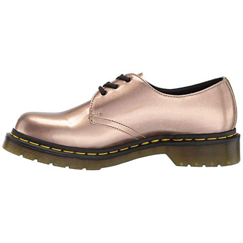 martens Metallic Chrome Zapatos Rose Dr Mujer Synthetic Paint Gold Vegan 1461 Aqn6dxwUH