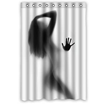 Sexy Woman Silhouette Bathroom Shower Curtain 48quot
