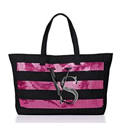 Limited Edition Tote Canvas Bag With Sequin Stripes