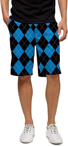 (Loudmouth Golf Mens Shorts - Black & Blue - Size 34)