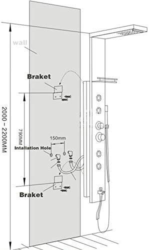 Onyzpily - Panel de ducha de acero inoxidable con acabado de bronce aceitado con cabezal de ducha de lluvia cuadrado, sistema de ducha de alta presión: Amazon.es: Bricolaje y herramientas