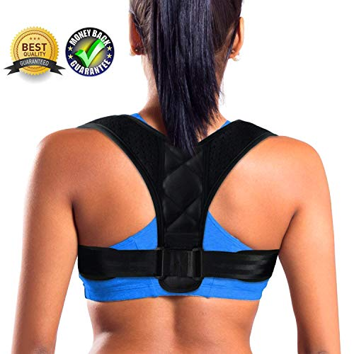Posture Corrector for Women Men - Effective Comfortable Adjustable Posture Corrector - FDA Approved Posture Support - Back Brace - Kyphosis Brace (Regular) (Best Posture Brace For Men)