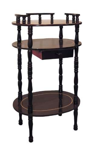 ORE International JW-106 3-Tier Phone Table, Cherry