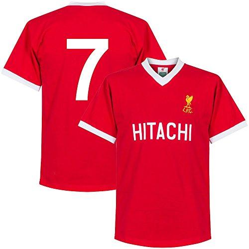 1978 Liverpool Home Retro Shirt + No. 7 (Retro Style Printing) - L -