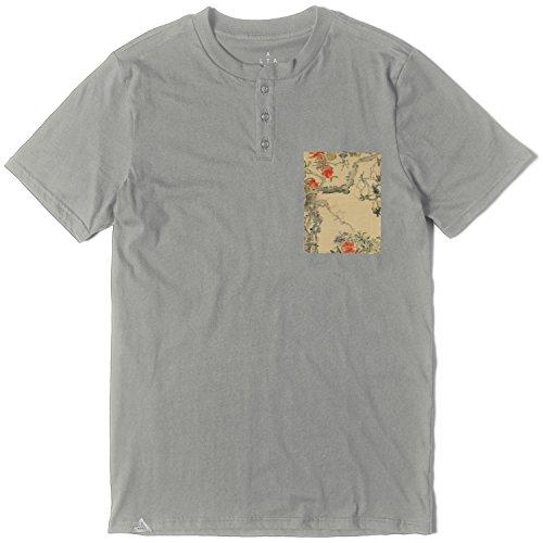 Tee Altamont (ALTAMONT T-Shirt YOYOGI Pocket Henley Grey Size S)
