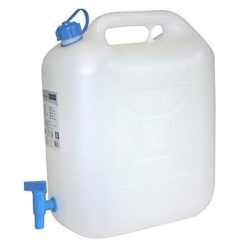 hünersdorff Wasserkanister Eco mit Hahn, naturfarben, 19 x 41,5 x 44 cm, 22 L, 817700