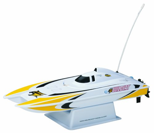 Aquacraft Mini Wildcat Catamaran RTR Boat (Colors may vary) - Wildcats Dual Stand