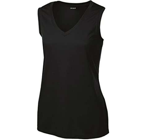 Ladies Moisture Wicking Muscle Tank Athletic T-Shirt in Sizes XS-4XL
