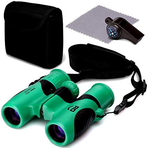 (RO Kids Games Binoculars Compact Toy Set for Bird Watching, Spy Hiking Kit for Children, Outdoor Exploration Kit for Backyard Safari, Outside Play, Boys & Girls Binocular, Waterproof & Shockproof)