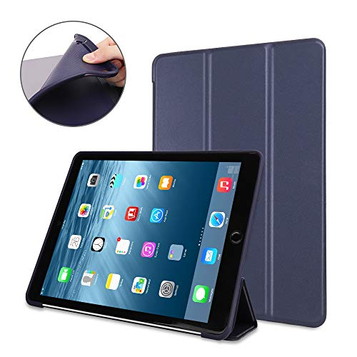 iPad 2/3/4 Case,Mektron Microfiber Lining Smart Case Trifold Stand with Auto Sleep Wake Function Full Silicone Soft Back Cover for Apple iPad 2 3 4,Navy Blue