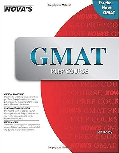 GMAT Prep Course: Jeff Kolby: 9781889057996: Amazon com: Books
