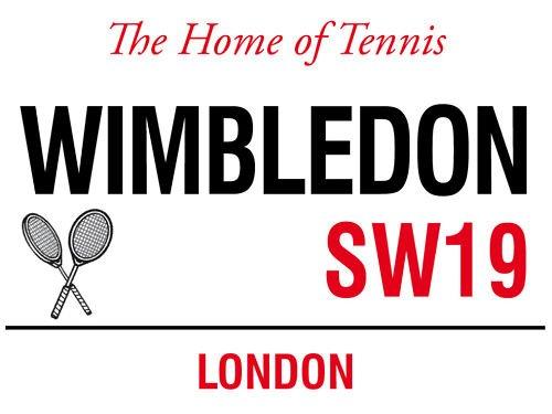 Wimbledon il Casa di Tennis SW19 Londra Strada Firmare Signs2all